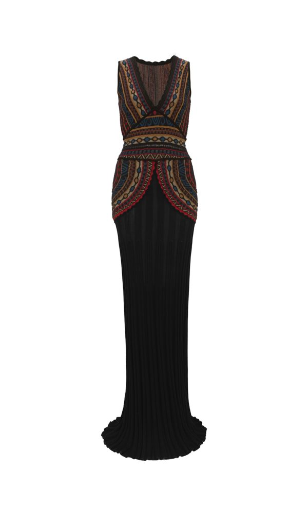 Talitha Autumn Winter 2017 Massai Intarsia Floor-Length Dress luxury boho elegant designer