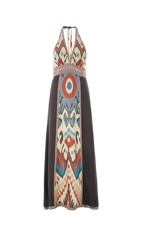Talitha Spring Summer 2017 Ikat Halter Dress luxury boho maxi festival beach hippy designer