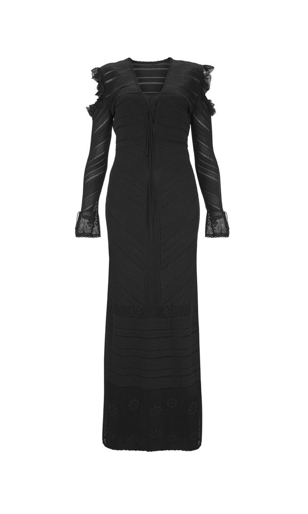 Talitha Pre-Fall 2017 Diamond Knit Long Dress maxi victoriana luxury long