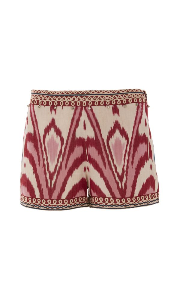 Talitha Spring summer 2017 Ikat Nisa Shorts silk boho luxury designer fashion hippy festival beach