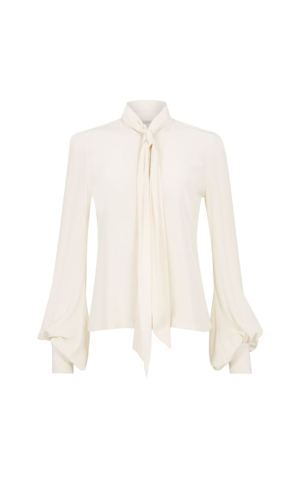 Talitha Autumn Winter 2016 silk crepe luxury boho button down blouse