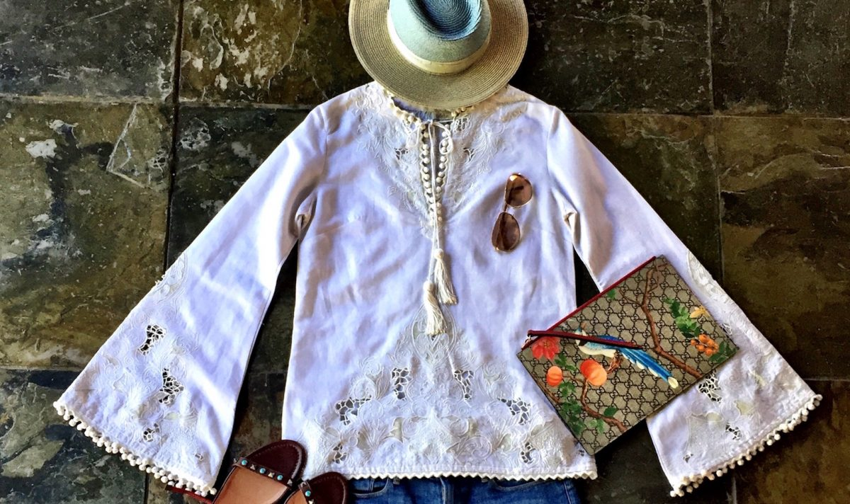 Outfit inspiration: Styling Talitha's Sana top on vacation