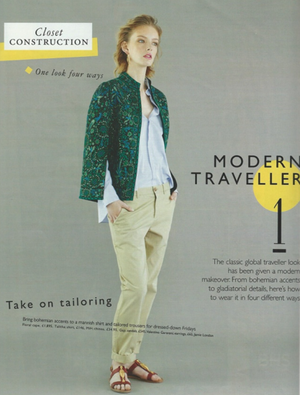 GRAZIA UK - CLOSET CONSTRUCTION: MODERN TRAVELLER, APRIL 2014