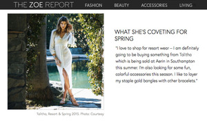 THE ZOE REPORT, WOMEN OF STYLE: AERIN LAUDER, 14 MAY 2015