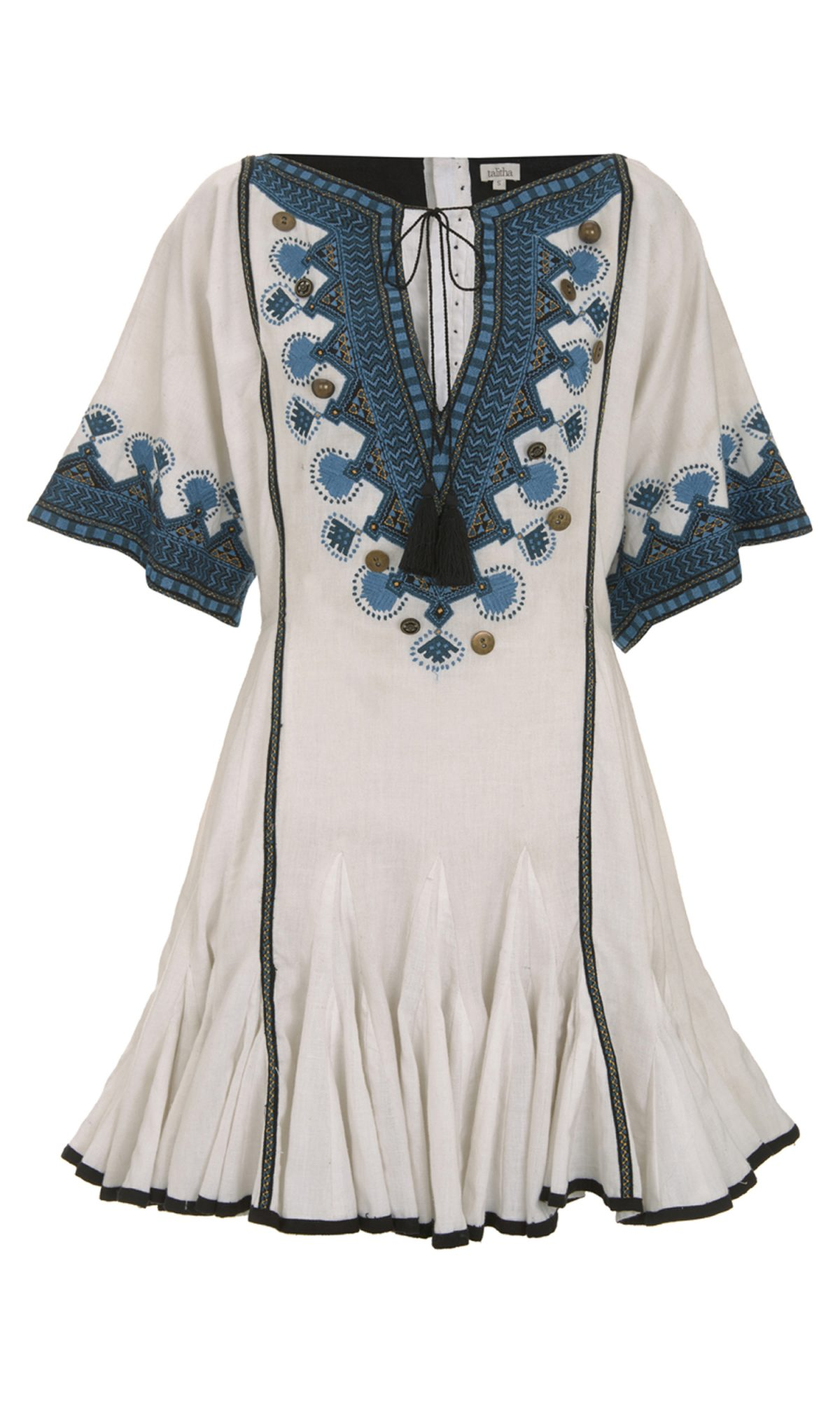 Button Embroidered Alai Dress