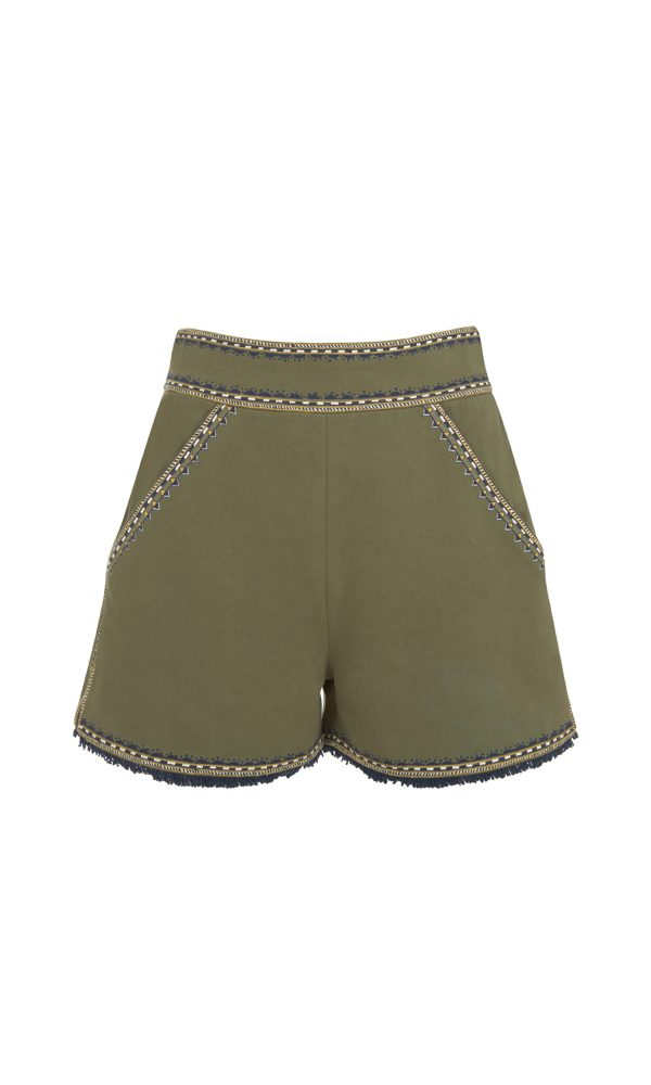 Talitha Pre-Fall 2017 Tailored Shorts olive luxury boho