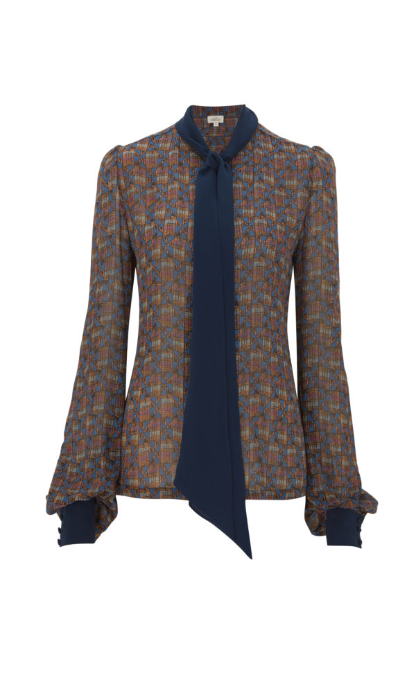Ashanti Print Button Down Blouse from the Talitha Autumn-Winter 2017 Collection