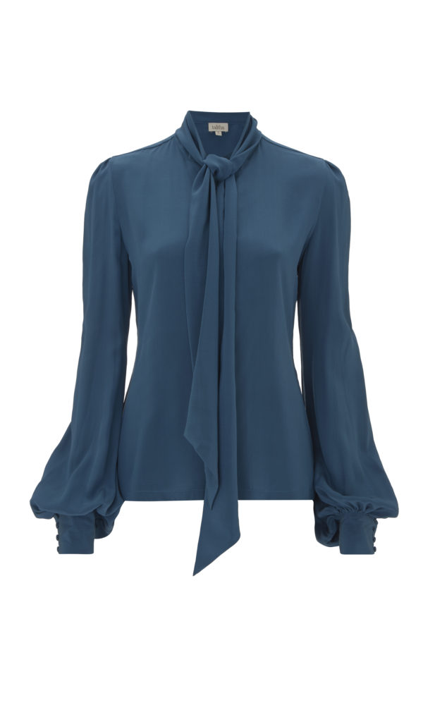 Button Down Blouse in Blue from the Talitha Autumn-Winter 2017 Collection