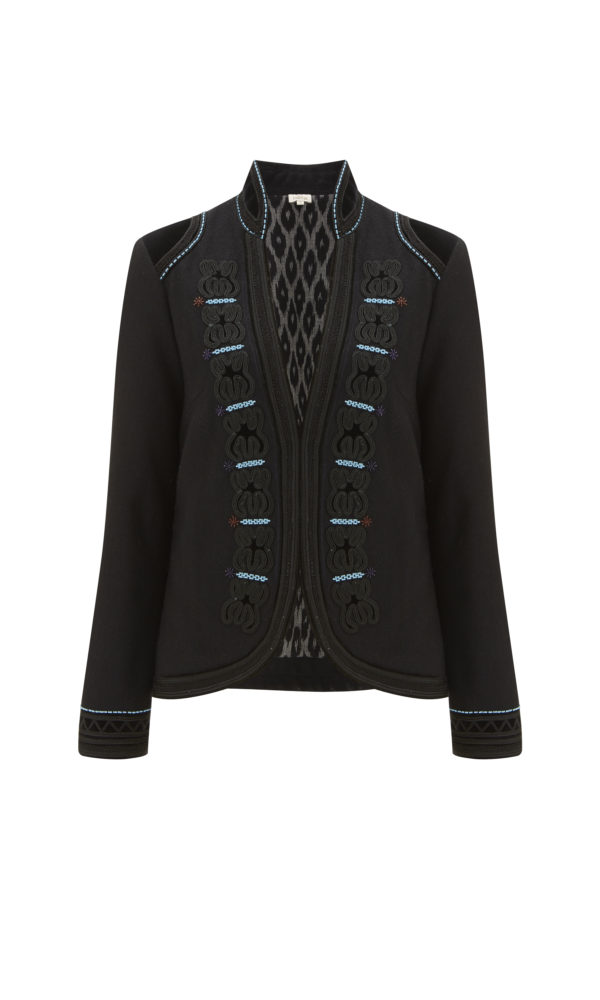 Embroidered Wool Fitted Jacket