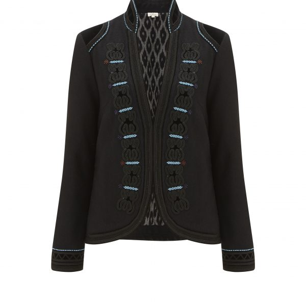 Spotlight on: Talitha's embroidered wool fitted jacket