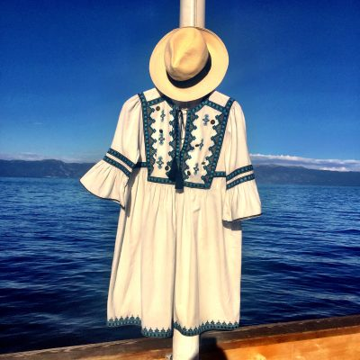 Styling Talitha's embroidered cotton summer dress