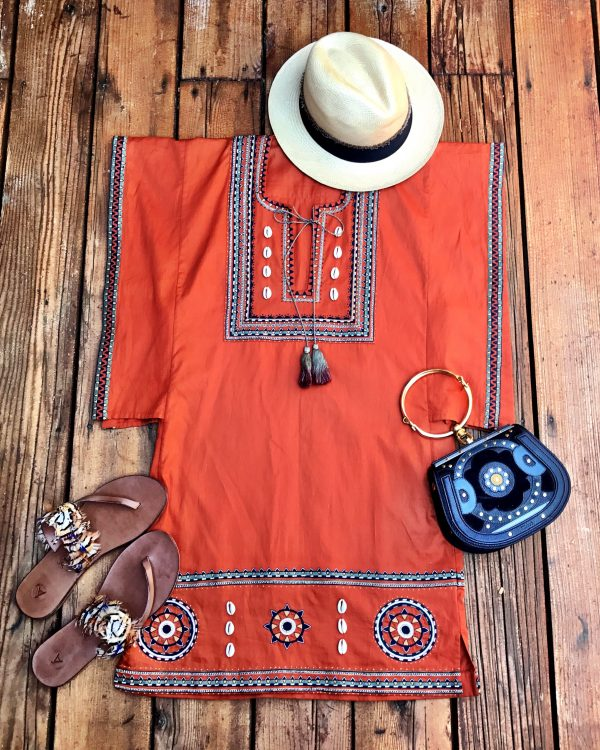 Styling Talitha's Maasai box tunic at home or on holiday