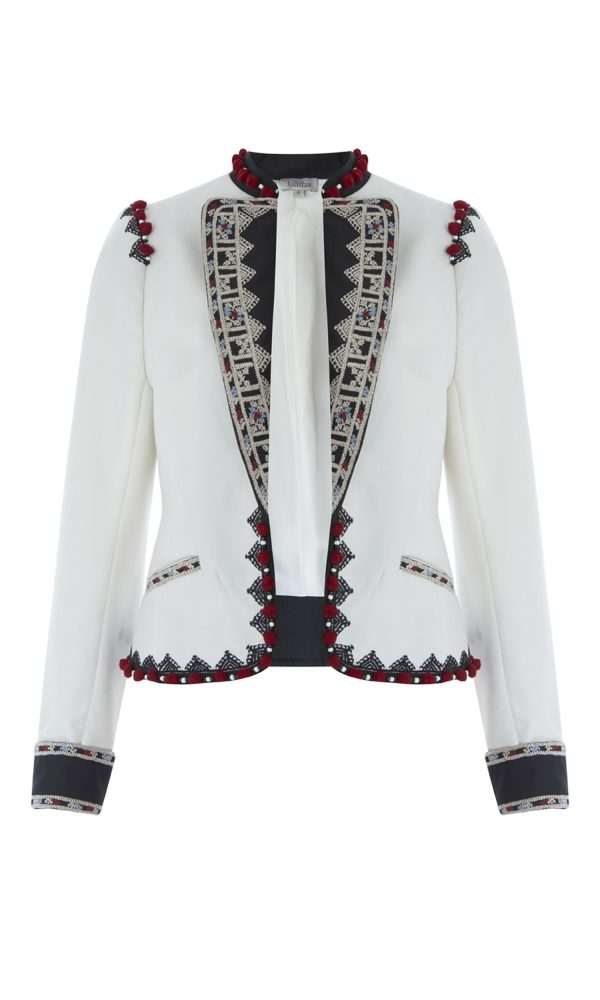Moroccan Embroidered Cropped Jacket